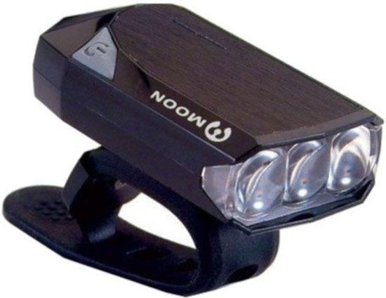 Moon Gem 2.0 Koplamp - Fietsverlichting - LED - USB/Accu - Zwart