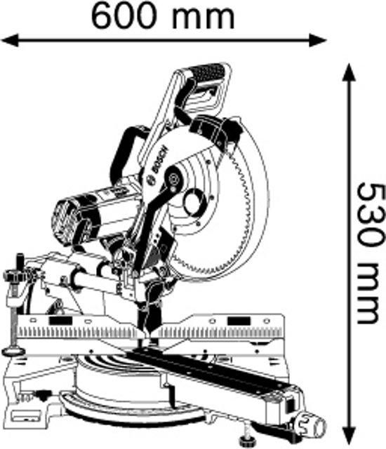 Bosch Professional GCM 12 SDE Afkortzaag - Met Trekfunctie - 1800 Watt