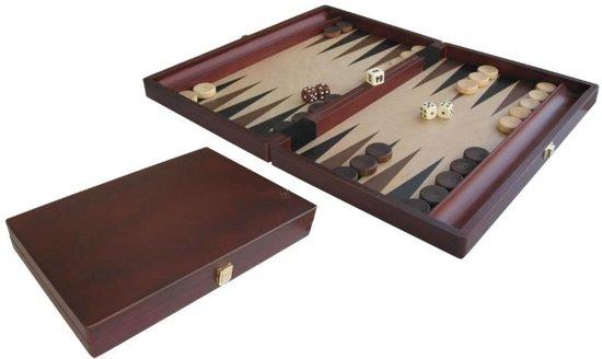 Hot sports Backgammon koffer hout bruin 35x23