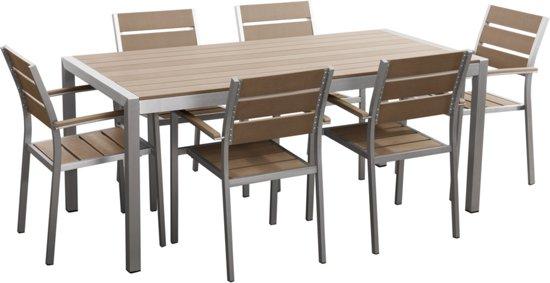 Bol beliani vernio tuinset bruin stoelen en tafel