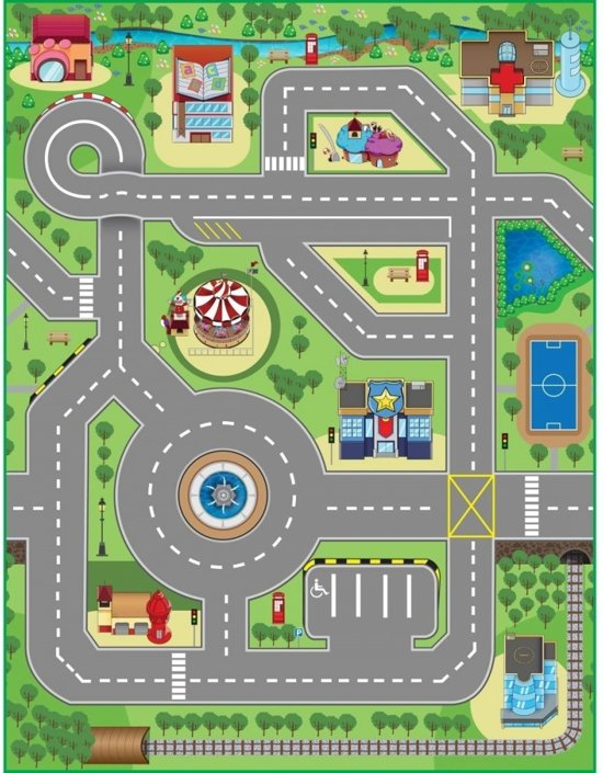 3DU Play City Playmat Interactief