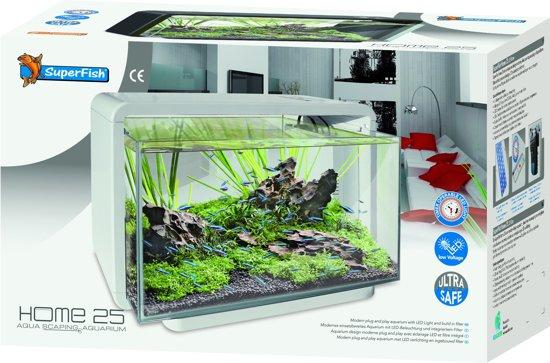 SuperFish Home Aquarium - 47x25x42.5 cm - 25L - Wit