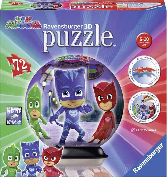 Ravensburger puzzleball PJ Masks - 3D Puzzel - 72 stukjes