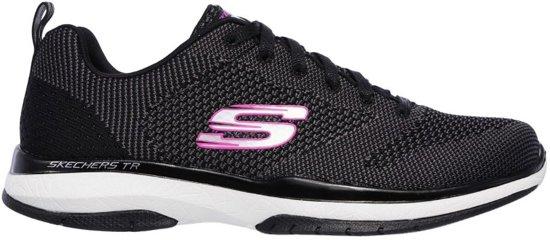 Skechers Burst TR Close Knit zwart sneakers dames