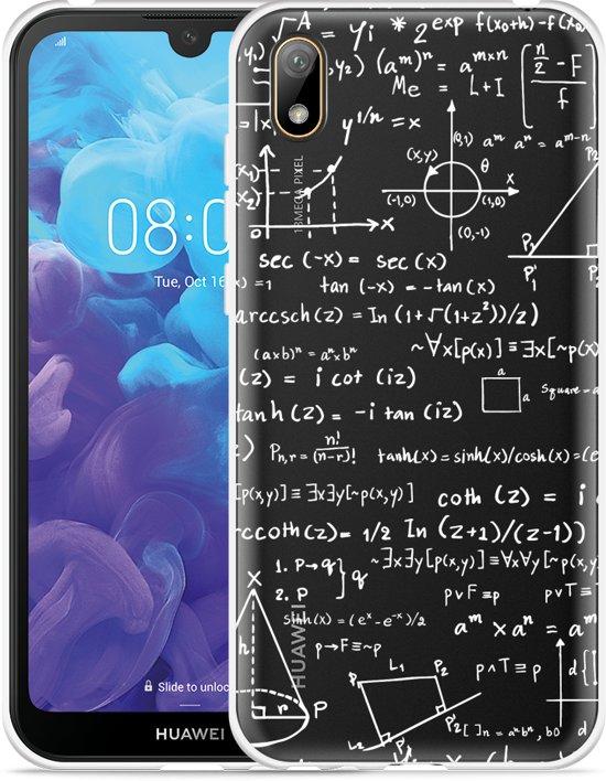 Huawei y5 2019 Hoesje Wiskunde wit