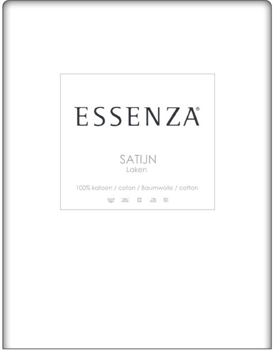 Essenza Laken Satijn - White 160x260