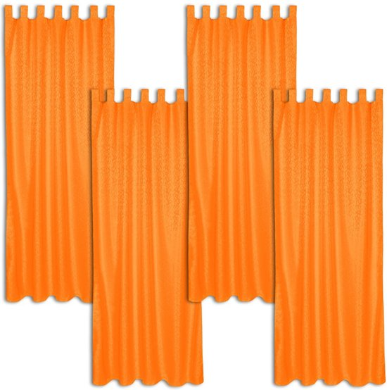 tectake kant en klaar gordijn met lussen oranje 401894 245x137 cm 4