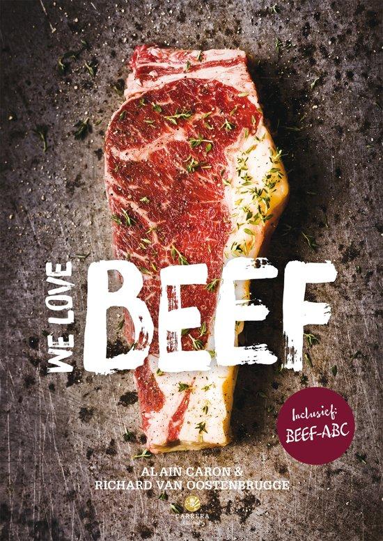 Boek cover We love beef van Alain Caron (Hardcover)