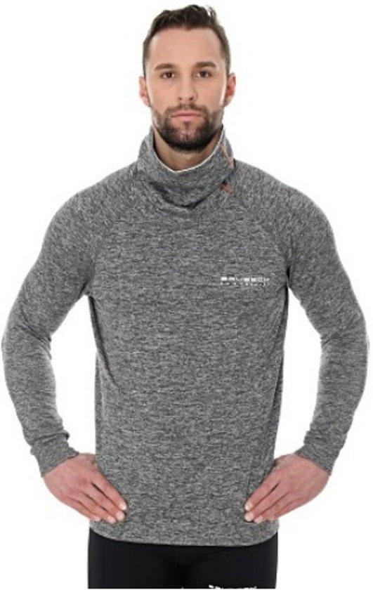 Brubeck | Heren Outdoor Trui Sweater Outdoortrui Grijs Melange Maat M