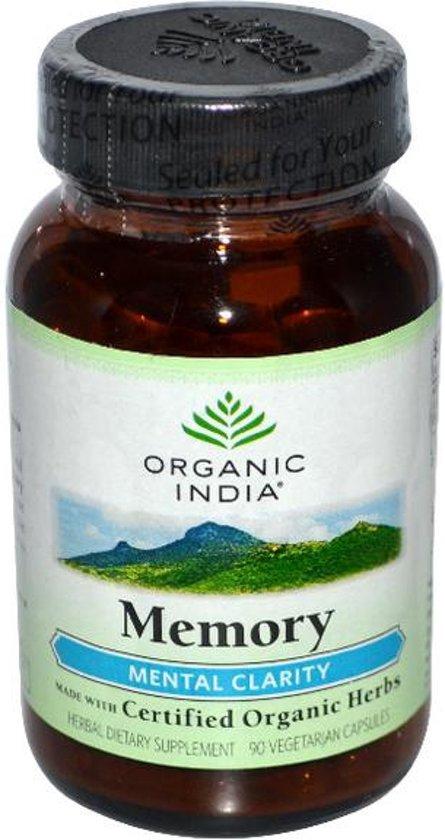 Biologische Memory (90 Vega Capsules) - Organic India