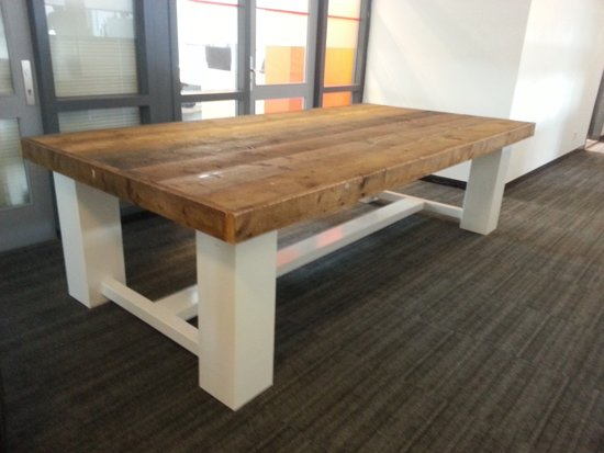 Bol tafel whitewood persoons eettafel bruin wit