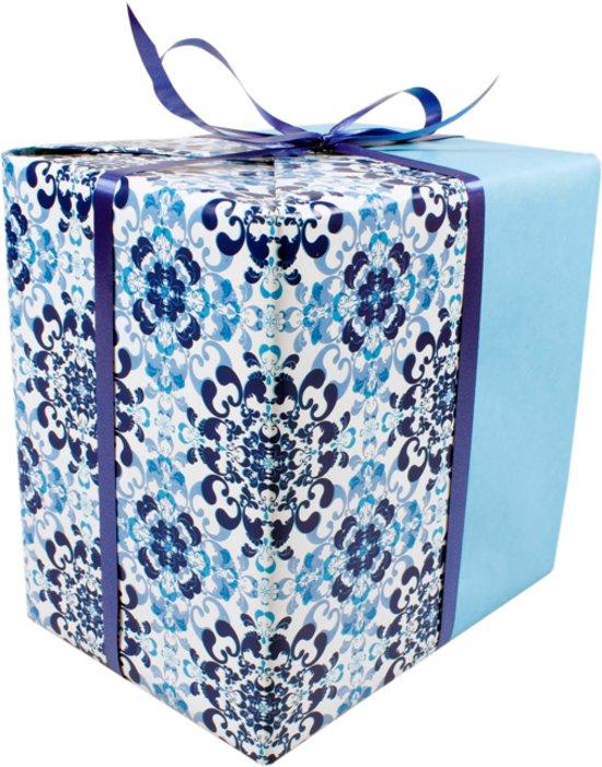 LOVLY® Cadeaupapier, 30cm, 200m, 80gr/m², Tiles, 696, hemelsblauw