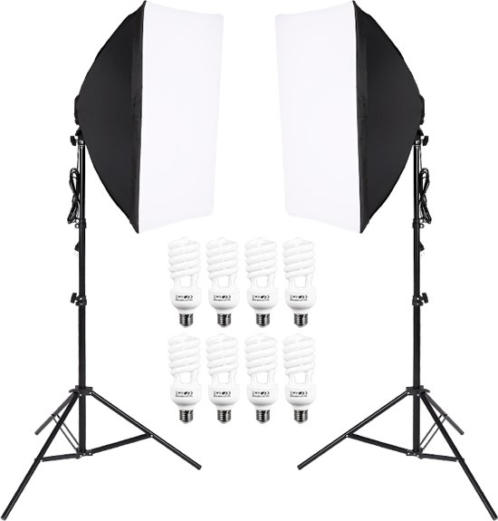 Wonderlijk bol.com   IMPAQT Studiolampen set 8 x 45W - 2x fotolamp fotografie LG-88