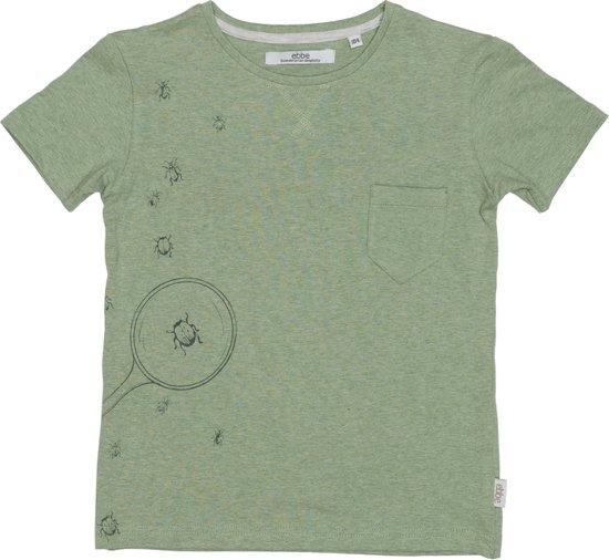 Ebbe - jongens t-shirt - model Barnie - Pastel green melange