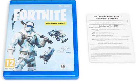 Fortnite Deep Freeze Bundle Ps4 Voucher In Box