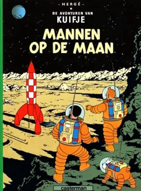 Kuifje 017 mannen op de maan herg for Schepper van de stripfiguur kuifje