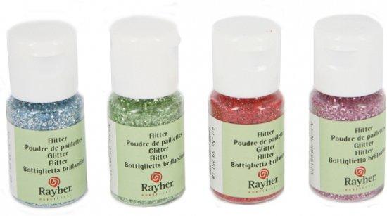 Hobby materiaal glitterflesje roze 10 ml