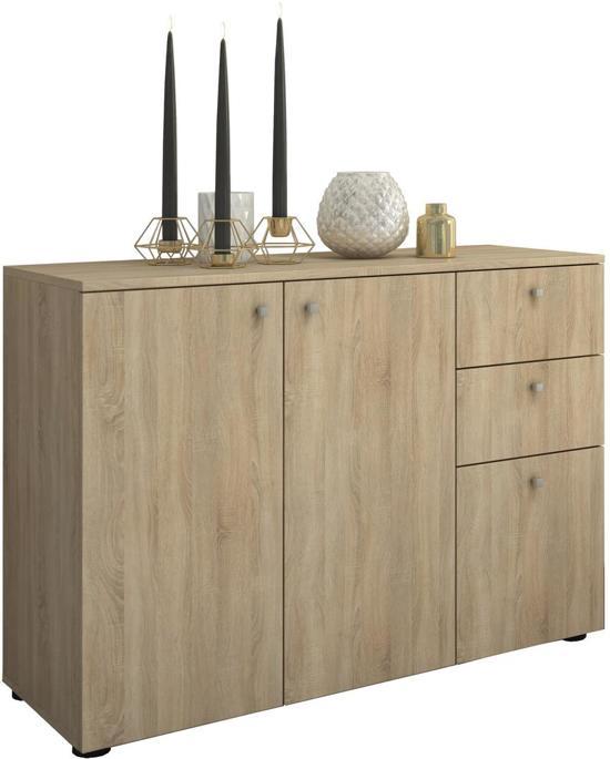 Dressoir wandkast vandol v3 lichtbruin 106 cm for Dressoir kast slaapkamer