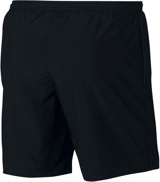Nike Run Short 7In Sportshort Heren - Black/Black/(Reflective Silv)