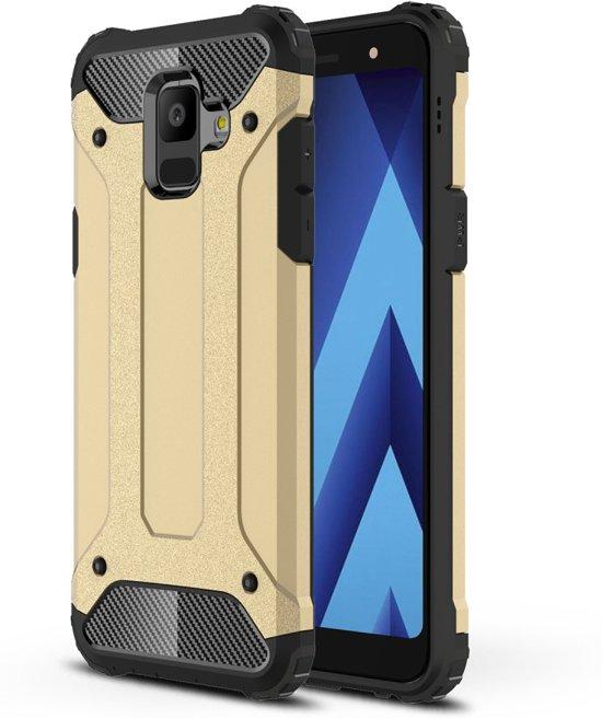 Armor Hybrid Hoesje Samsung Galaxy A6 (2018) - Goud