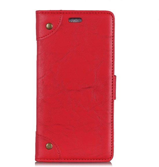 Mobigear Copper Buckle Retro Wallet Hoesje Rood Xiaomi Mi Mix 3