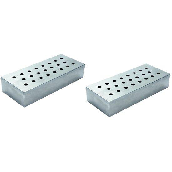 2x Barbecue rookbox RVS - Barbecueaccessoires - BBQ smoker box
