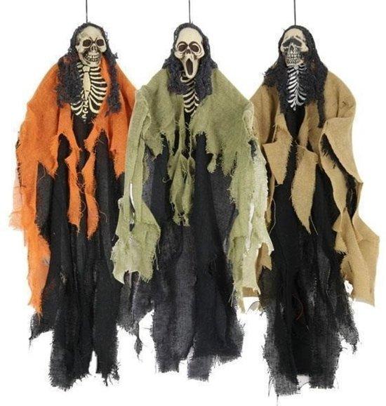 Halloween skelet hang decoratie halloween 1 for Hangdecoratie raam