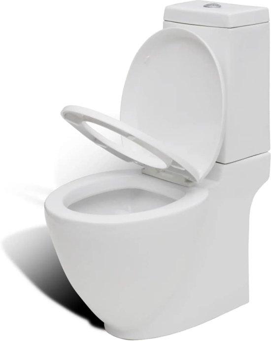 vidaXL Design toilet vierkant keramiek wit