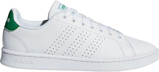 b31175f266d adidas Advantage Sportschoenen - Maat 41 1/3 - Unisex - wit/groen