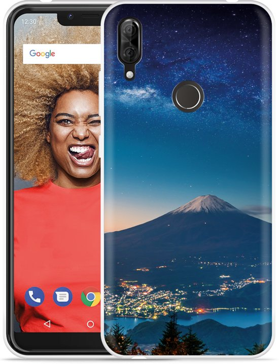 Wiko View 2 Plus Hoesje Sky Rocks