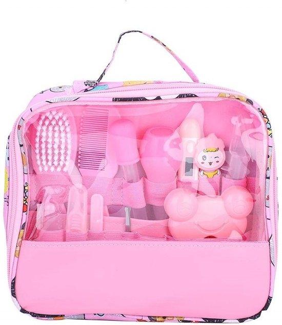 BenjaGoods® Baby verzorgingsset 13-in-1 veilige Verzorgset|Roze| Baby Geschenkset | Babyshower | Manicureset | Kraamcadeau|