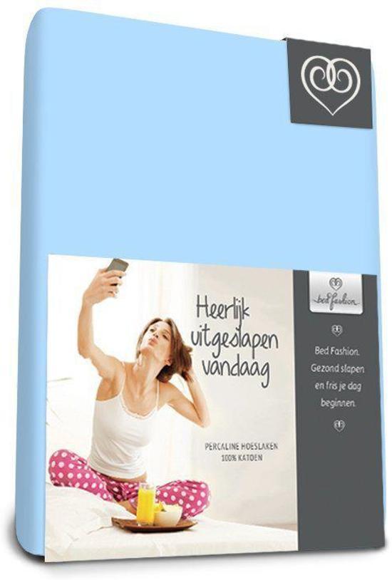 Bed-Fashion katoenen hoeslaken Bleu - 90 x 210 cm - Bleu