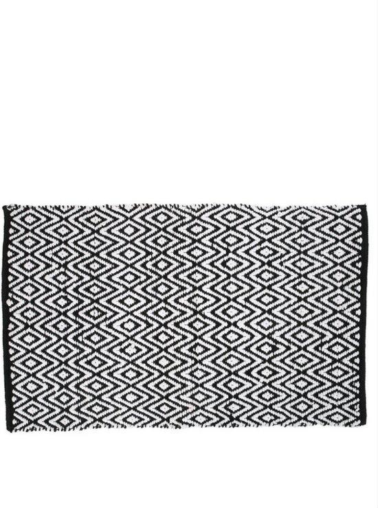 Yoshiko - Yunnan - tapijt 60x90 - zwart/wit - katoen