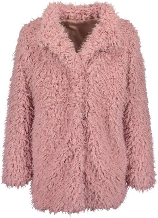 Blue Seven Meisjes Fake Fur Jas Oud Rose - Maat 164