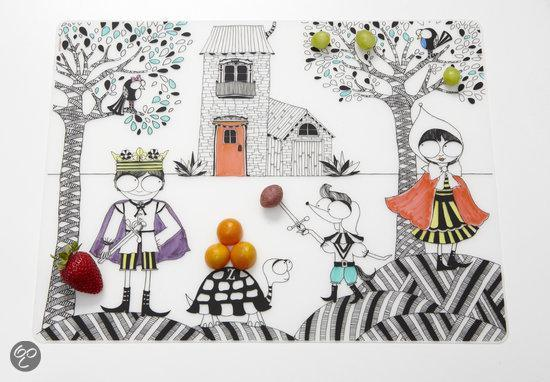 Modern Twist Mark Matz Hide & Seek Placemat - 40 x 32 cm - Wit