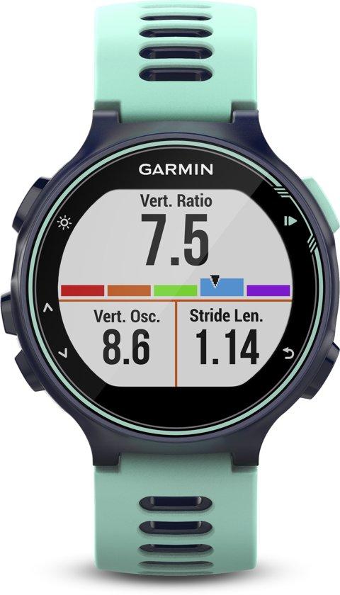 Garmin Forerunner 735XT Frost blauw/donkerblauw - GPS multisporthorloge met polshartslag meting - Ø 44.5 mm - Frost blauw/donkerblauw