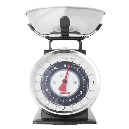 Typhoon Retro Tafelblad Mechanical kitchen scale Zwart