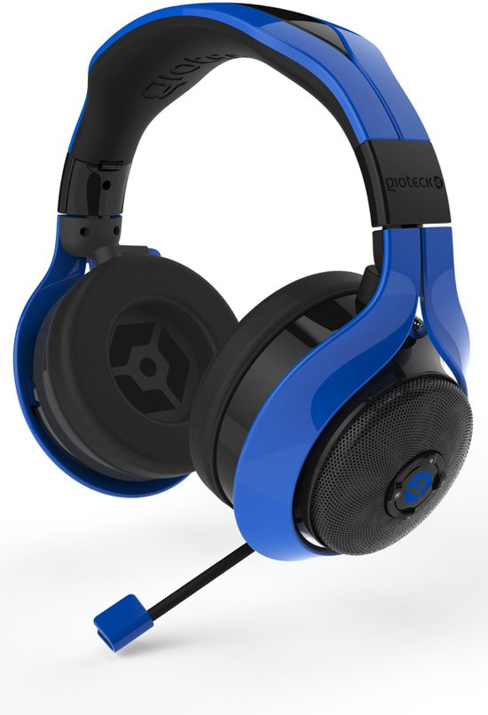 gioteck fl 300 stereo headset bluetooth blauw pc mac ps4 xbox. Black Bedroom Furniture Sets. Home Design Ideas