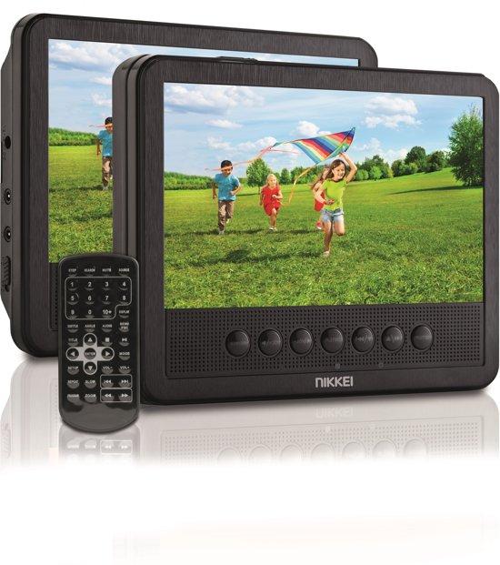 Nikkei NPD710T Portable DVD speler met 2 LCD-displays 7 inch
