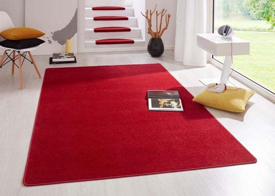 Modern effen vloerkleed Fancy - rood 200x280 cm