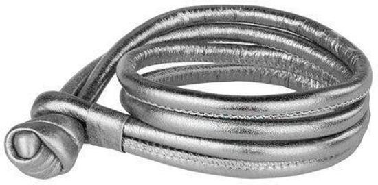 Joy de la Luz Leather Bracelet Silver Armband JB013 Maat M
