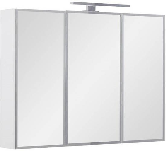 athena spiegelkast 80 cm met led verlichting wit hoogglans