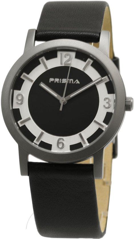 Prisma Herenhorloge P.2263 Lederen band Zilver