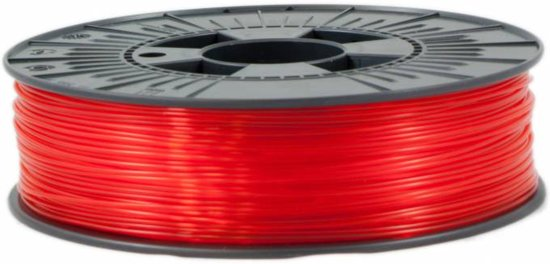 ICE Filaments ABS+ 'Transparent Romantic Red'