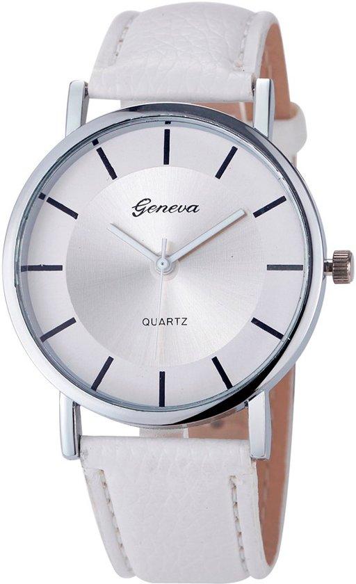 Fako Bijoux® - Horloge - Geneva - Metal - Wit