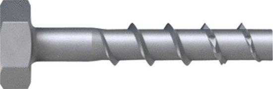 TOGE schroefanker, staal, zink Flake Coating, zeskant, zeskant 13mm