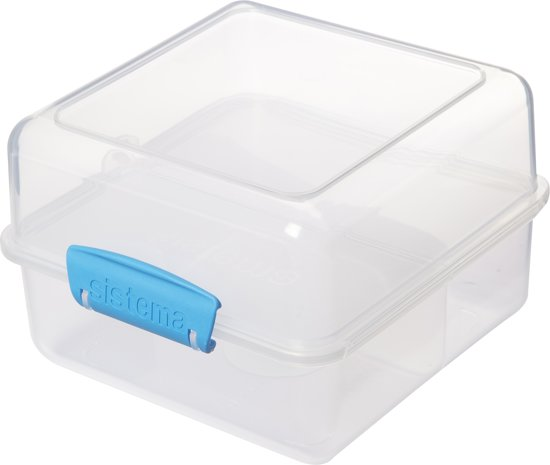 Sistema To Go Cube Lunchbox - 1,4 l - 3 Compartimenten - Blauw