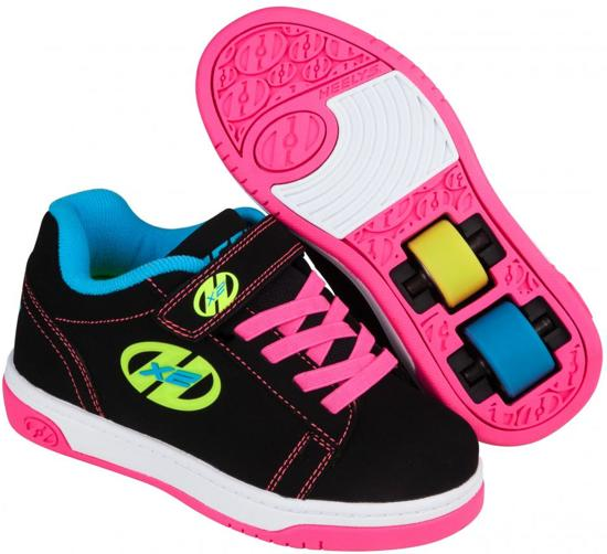 Heelys Rolschoenen Dual Up Neon - Sneakers - Kinderen - Maat 32 - Meisjes - Zwart/Neon
