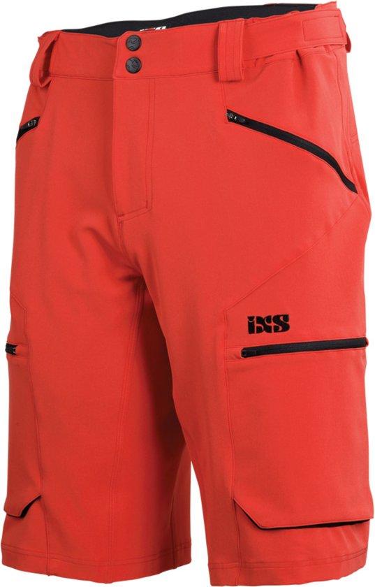 IXS Tema 6.1 Trail Korte Broek Heren, fluor red Maat XL