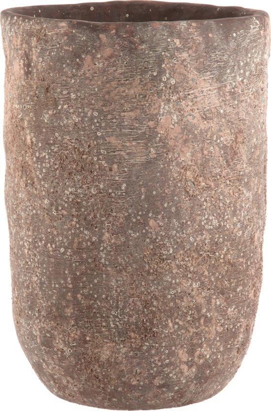 bloempot cement bruin Small